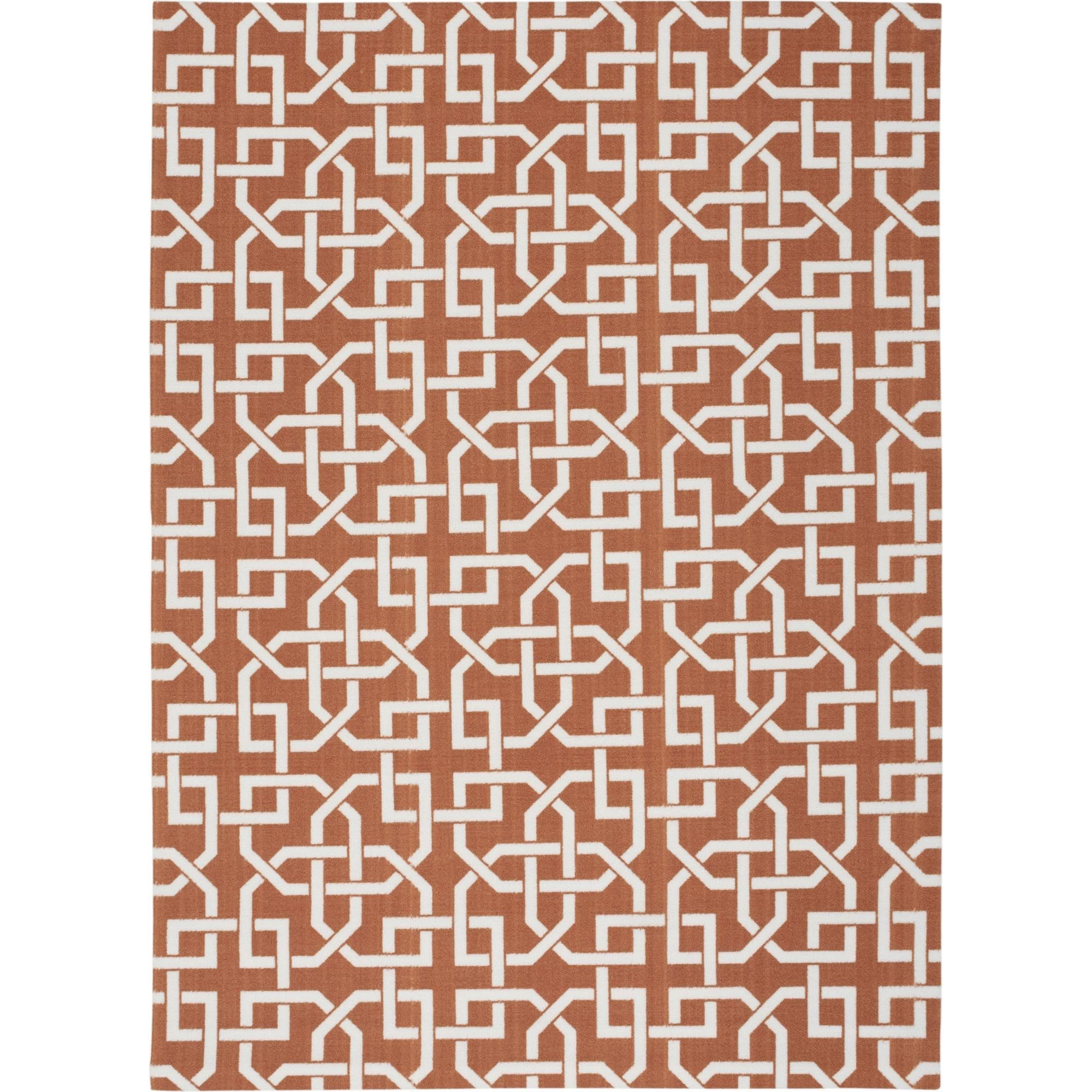"Nourison Home & Garden 5'3"" x 7'5"" Rust Area Rug - Item Number: 20796"