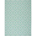 "Nourison Home & Garden 7'9"" x 10'10"" Aqua Area Rug - Item Number: 20797"