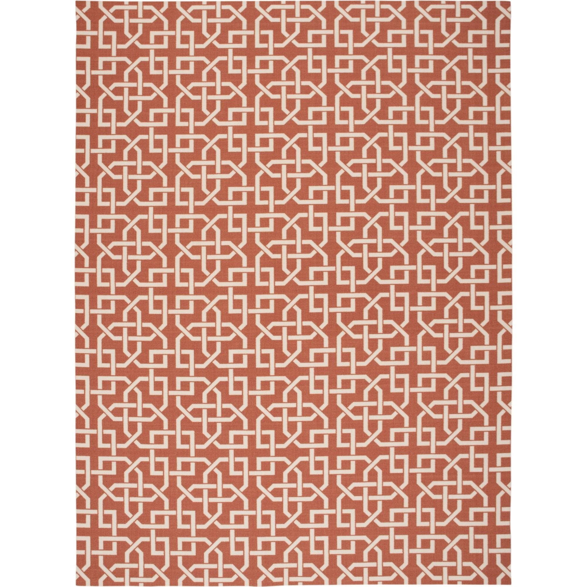 "Nourison Home & Garden 7'9"" x 10'10"" Rust Area Rug - Item Number: 20799"