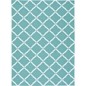 "Nourison Home & Garden 5'3"" x 7'5"" Aqua Area Rug - Item Number: 20809"