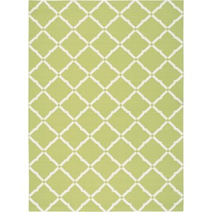 "Nourison Home & Garden 5'3"" x 7'5"" Light Green Area Rug"