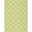 "Nourison Home & Garden 5'3"" x 7'5"" Light Green Area Rug - Item Number: 20810"