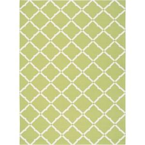 "Nourison Home & Garden 7'9"" x 10'10"" Light Green Area Rug"