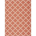 "Nourison Home & Garden 7'9"" x 10'10"" Orange Area Rug - Item Number: 20817"