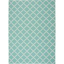 Nourison Home & Garden 10' x 13' Aqua Area Rug - Item Number: 20818