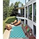 Nourison Home & Garden 10' x 13' Aqua Area Rug