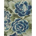 "Nourison Impressionist 5'6"" x 7'6"" Green Blue Area Rug - Item Number: 21487"
