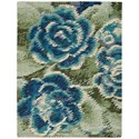 Nourison Impressionist 8' x 10' Green Blue Rectangle Rug - Item Number: IMPR1 GREBL 8X10