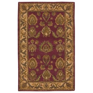 "Nourison India House 3'6"" x 5'6"" Burgundy Rectangle Rug"