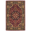 """Nourison India House 3'6"""" x 5'6"""" Rust Rectangle Rug - Item Number: IH02 RUS 36X56"""