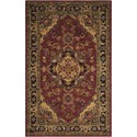 Nourison India House 5' x 8' Rust Rectangle Rug - Item Number: IH02 RUS 5X8