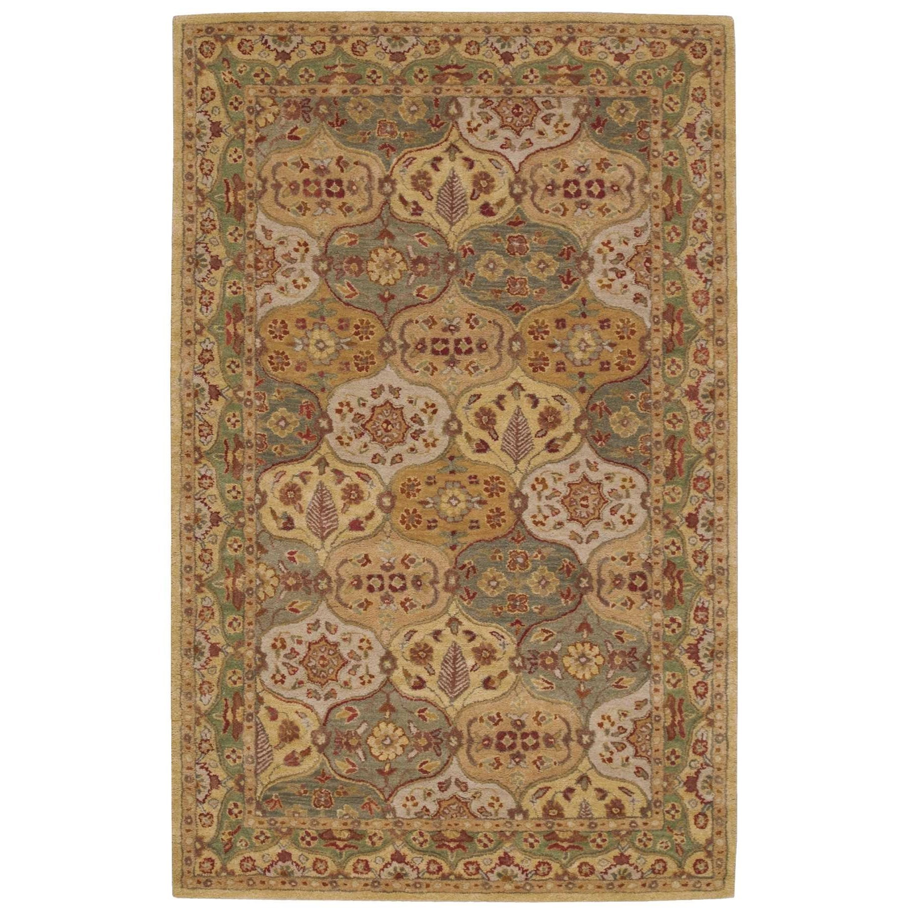 "Nourison India House 3'6"" x 5'6"" Multicolor Rectangle Rug - Item Number: IH03 MTC 36X56"