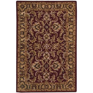 "Nourison India House 2'6"" x 4' Burgundy Rectangle Rug"