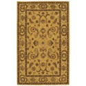 Nourison India House 5' x 8' Gold Rectangle Rug - Item Number: IH19 GLD 5X8