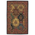 """Nourison India House 3'6"""" x 5'6"""" Multicolor Rectangle Rug - Item Number: IH23 MTC 36X56"""