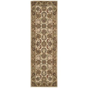 "Nourison India House 2'3"" x 7'6"" Ivory/Gold Runner Rug"