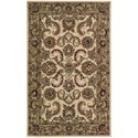 Nourison India House 5' x 8' Ivory/Gold Rectangle Rug - Item Number: IH47 IGD 5X8