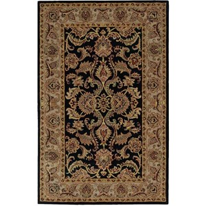 "Nourison India House 3'6"" x 5'6"" Black Rectangle Rug"