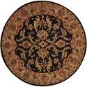 Nourison India House 6' x 6' Black Round Rug - Item Number: IH48 BLK 6X6
