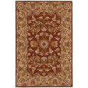 Nourison India House 2' x 3' Rust Rectangle Rug - Item Number: IH58 RUS 2X3