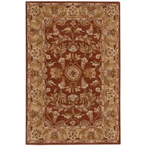 "Nourison India House 3'6"" x 5'6"" Rust Rectangle Rug"