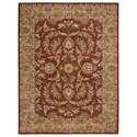 "Nourison India House 8' x 10'6"" Rust Rectangle Rug - Item Number: IH58 RUS 8X106"