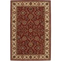 "Nourison India House 3'6"" x 5'6"" Brick Rectangle Rug - Item Number: IH61 BRK 36X56"