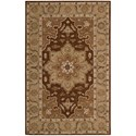 Nourison India House 5' x 8' Chocolate Rectangle Rug - Item Number: IH66 CHO 5X8