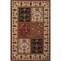 """Nourison India House 3'6"""" x 5'6"""" Multicolor Rectangle Rug - Item Number: IH70 MTC 36X56"""