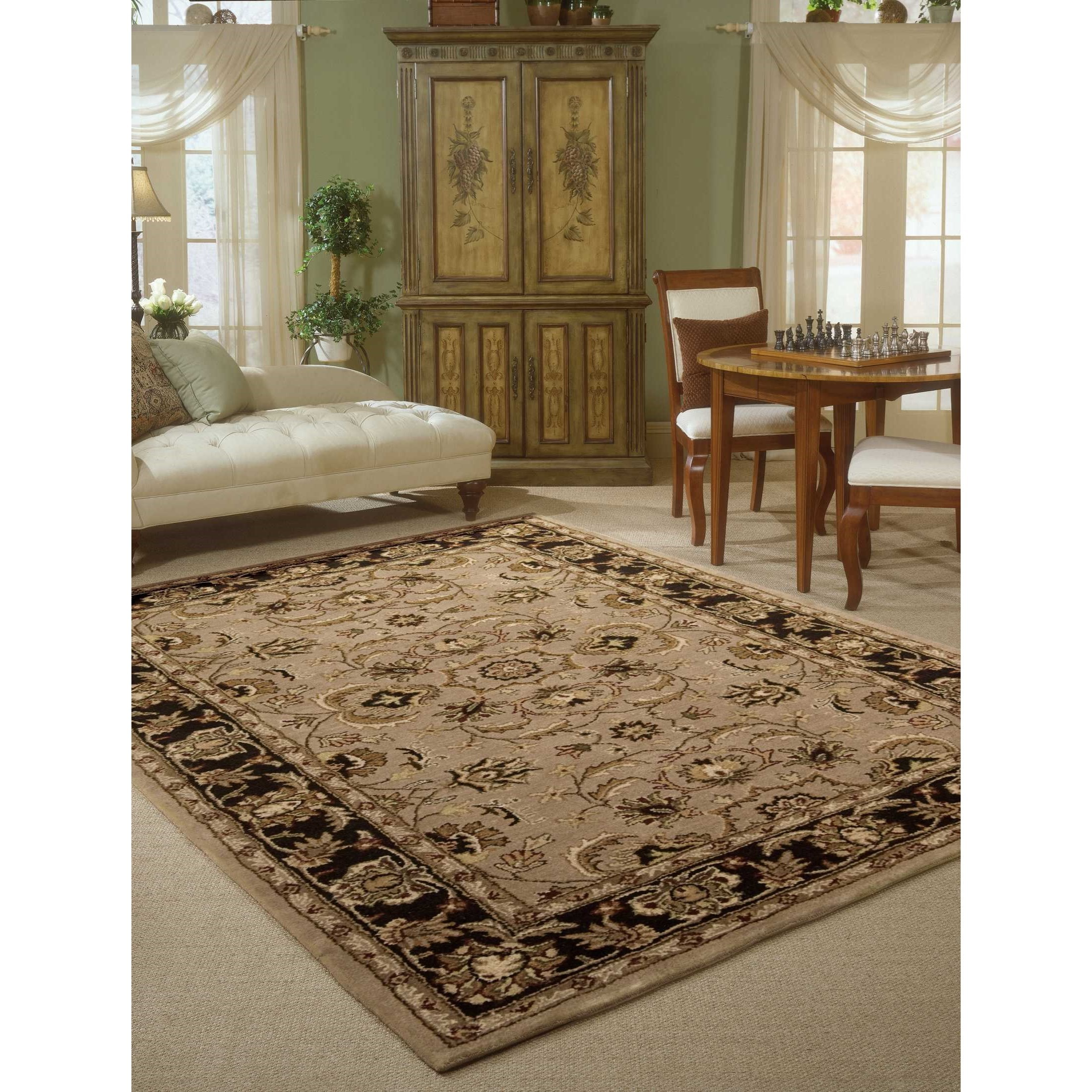 """Nourison India House 2'6"""" X 4' Taupe Rectangle Rug"""