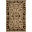 "Nourison India House 2'6"" x 4' Taupe Rectangle Rug - Item Number: IH71 TAU 26X4"