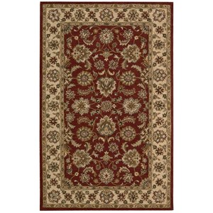 "Nourison India House 3'6"" x 5'6"" Red Rectangle Rug"