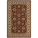 Nourison India House 5' x 8' Red Rectangle Rug - Item Number: IH72 RED 5X8