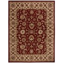 """Nourison India House 8' x 10'6"""" Red Rectangle Rug - Item Number: IH72 RED 8X106"""