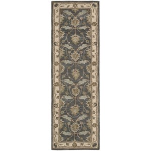 "Nourison India House 2'3"" x 7'6"" Blue Runner Rug"