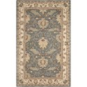 Nourison India House 5' x 8' Blue Rectangle Rug - Item Number: IH75 BL 5X8