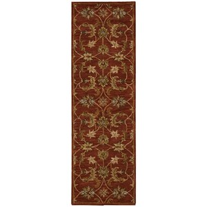 "Nourison India House 2'3"" x 7'6"" Brick Runner Rug"