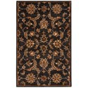 Nourison India House 5' x 8' Charcoal Rectangle Rug - Item Number: IH83 CHA 5X8