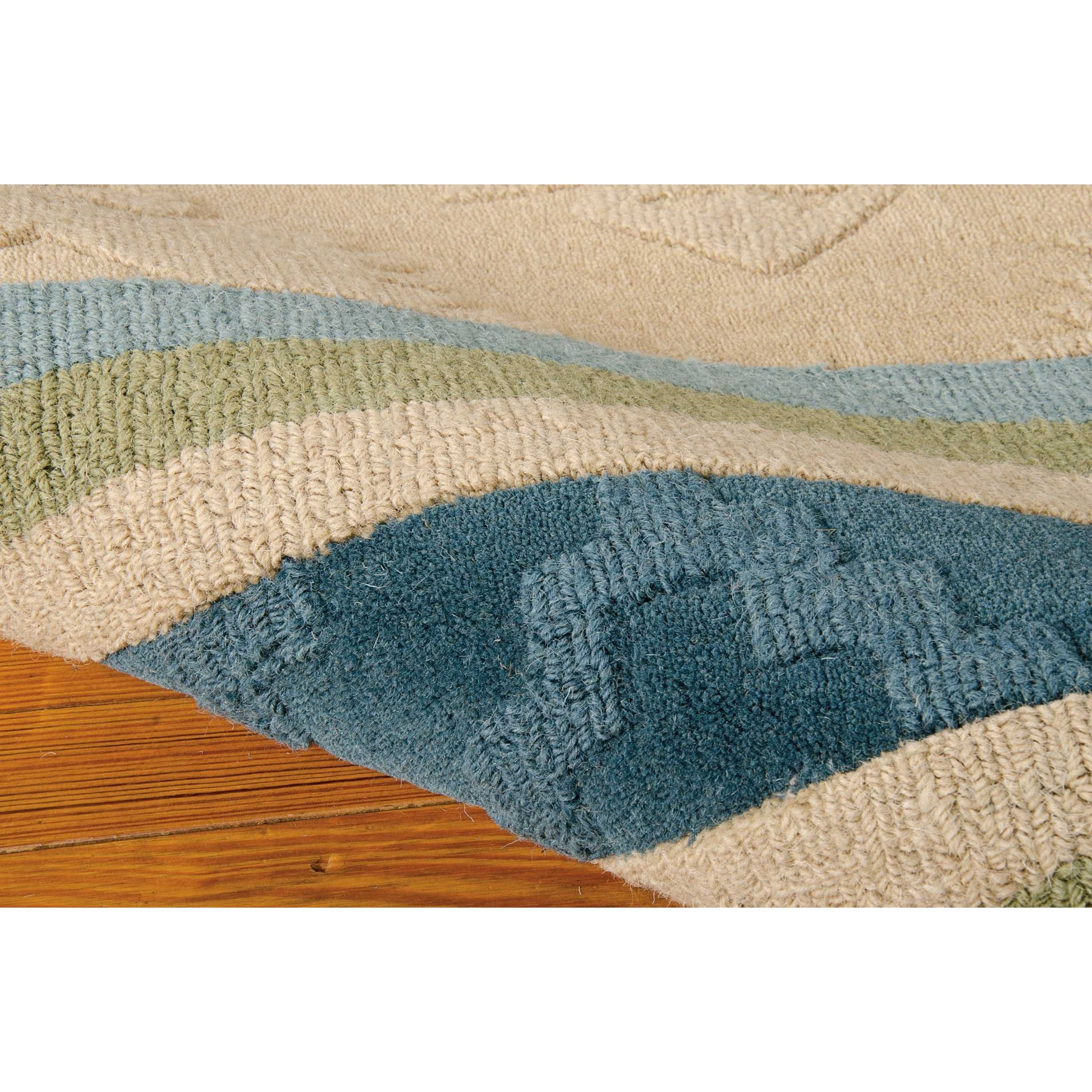 """Nourison India House 2'6"""" X 4' Blue Green Rectangle Rug"""