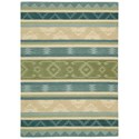 Nourison India House 5' x 8' Blue Green Rectangle Rug - Item Number: IH84 BLGRE 5X8