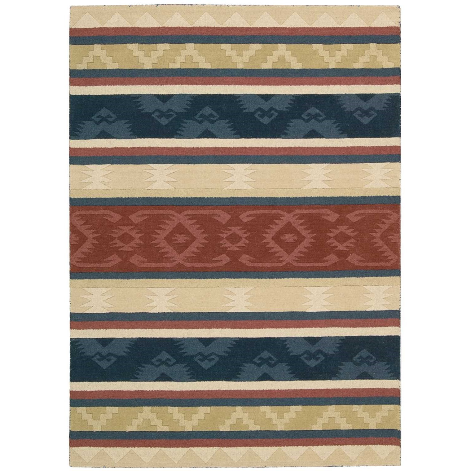 "2'6"" x 4' Multicolor Rectangle Rug"