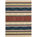 Nourison India House 5' x 8' Multicolor Rectangle Rug - Item Number: IH84 MTC 5X8