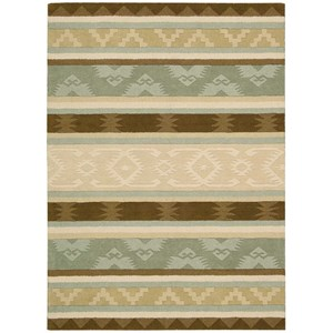 "Nourison India House 8' x 10'6"" Sage Rectangle Rug"