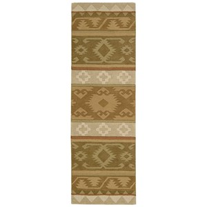 "Nourison India House 2'3"" x 7'6"" Camel Runner Rug"