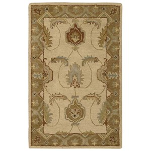 "Nourison India House 2'6"" x 4' Ivory/Gold Rectangle Rug"
