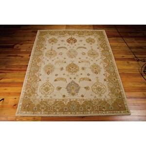 Nourison India House 5' x 8' Ivory/Gold Rectangle Rug