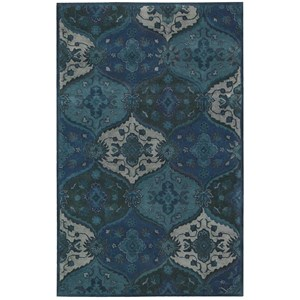 "Nourison India House 2'6"" x 4' Denim Rectangle Rug"