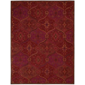 "Nourison India House 8' x 10'6"" Red Rectangle Rug"