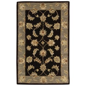 "Nourison India House 2'6"" x 4' Black Rectangle Rug"