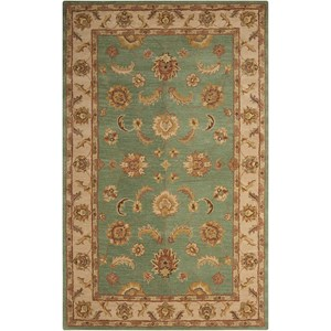 "Nourison India House 3'6"" x 5'6"" Seafoam Rectangle Rug"